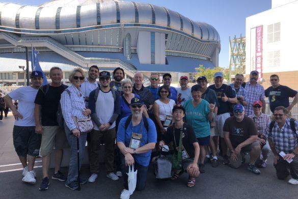 Baseball Tour to Osaka Dome with Japanball - Group Photo